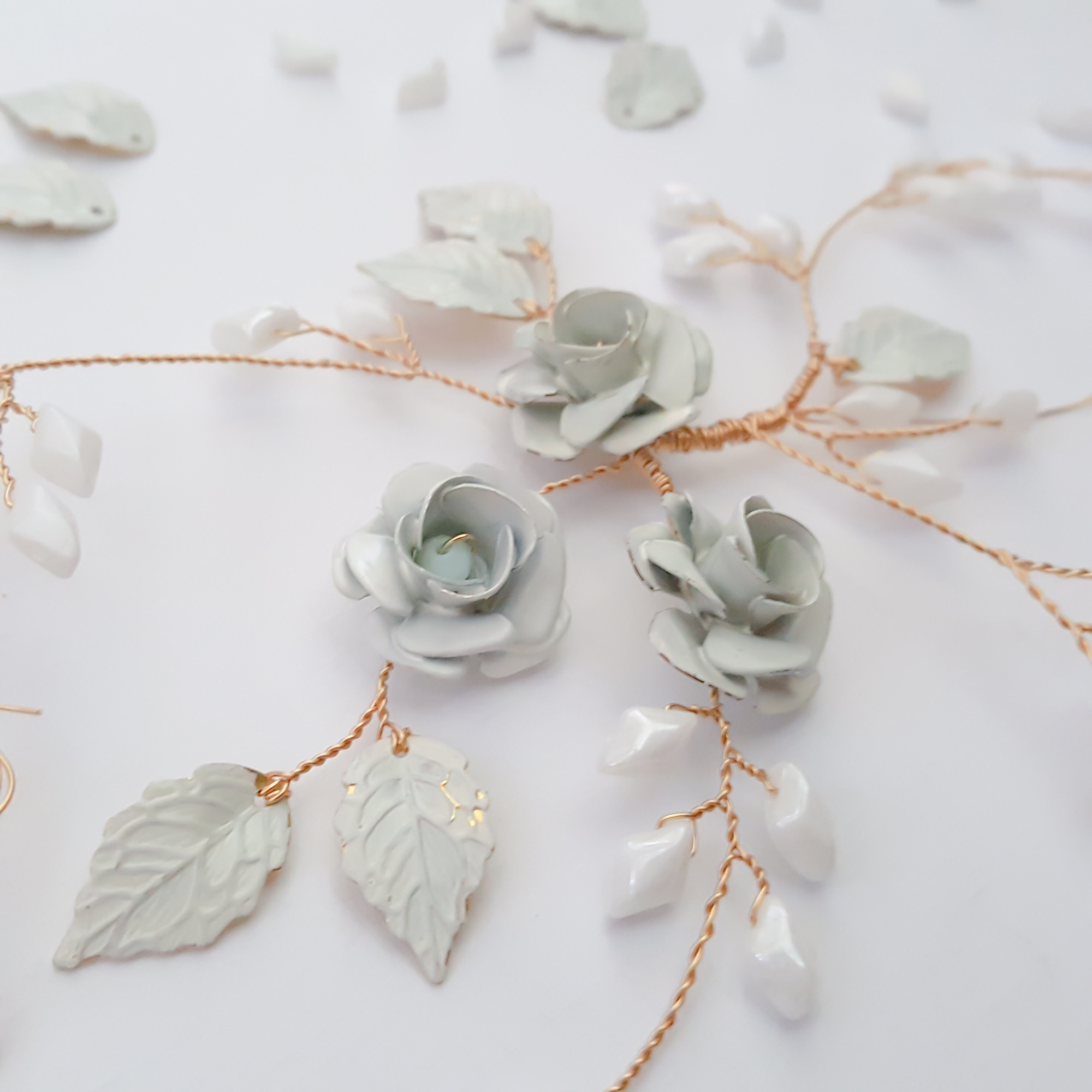 bespoke bridal hair accessories by Clare Lloyd