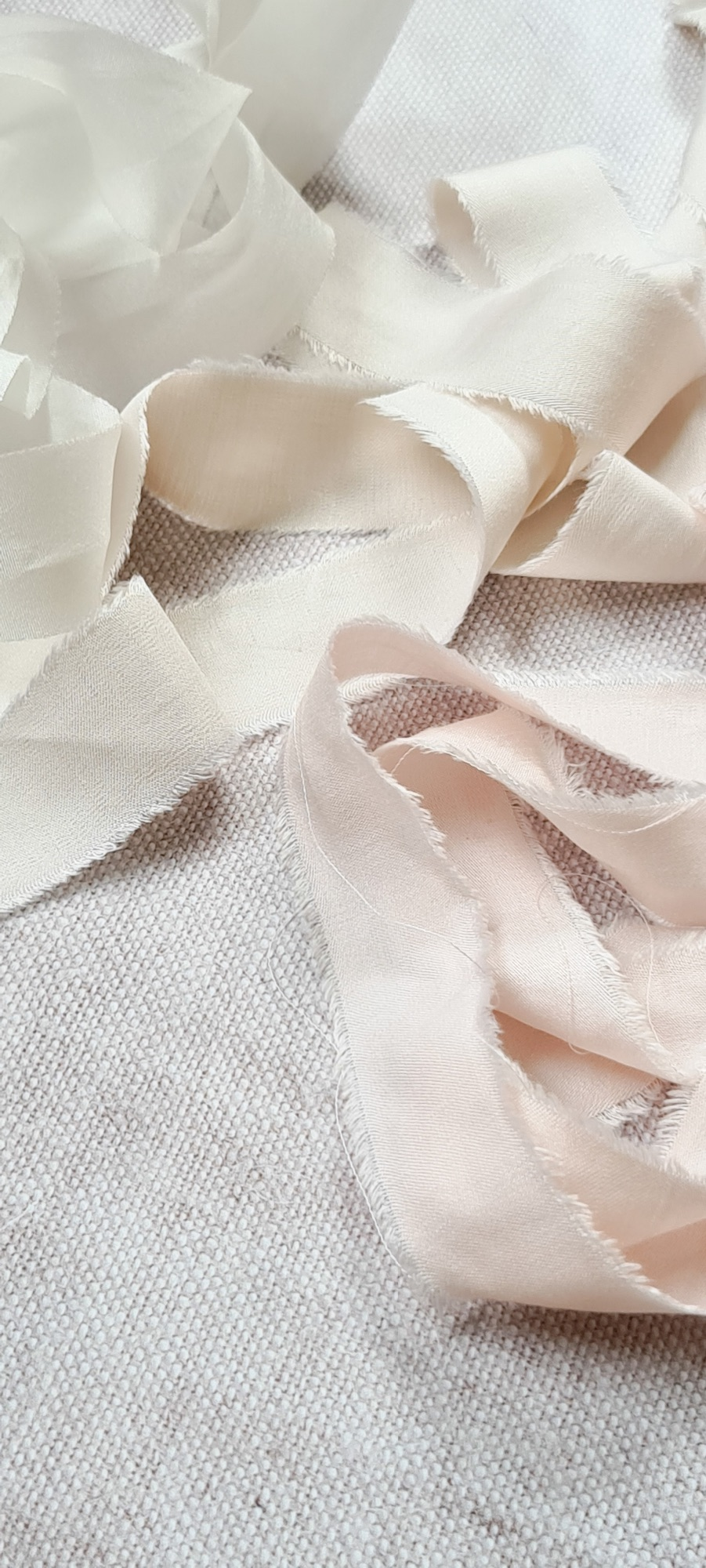 Ethical bamboo silk ribbons