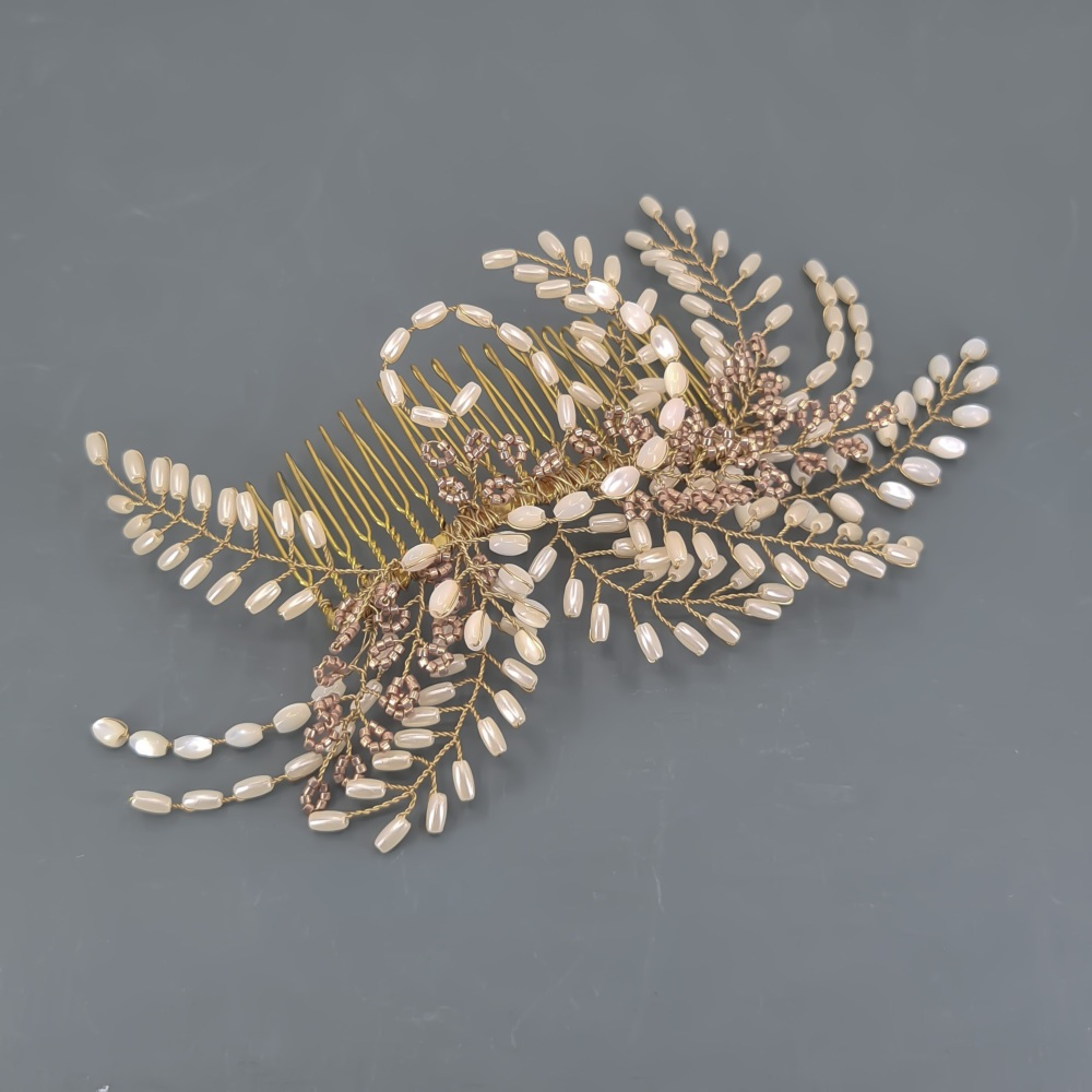 Gold Fern Hair Comb