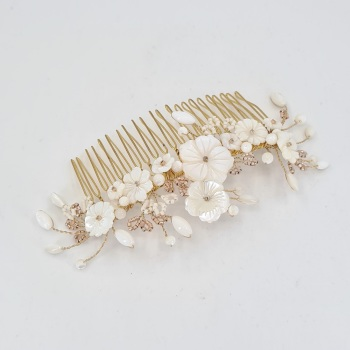 Large Cherry Blossom Hair Comb