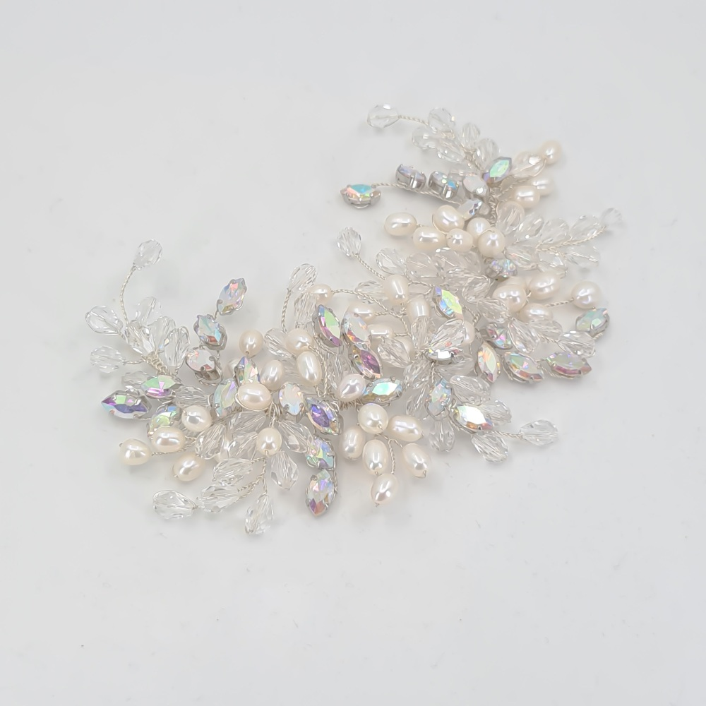 Statement Freshwater Pearl and Diamante Headpiece