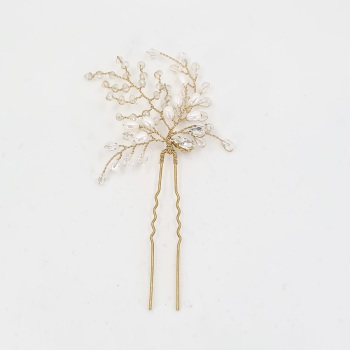 Fern Hair in Gold and Pearl