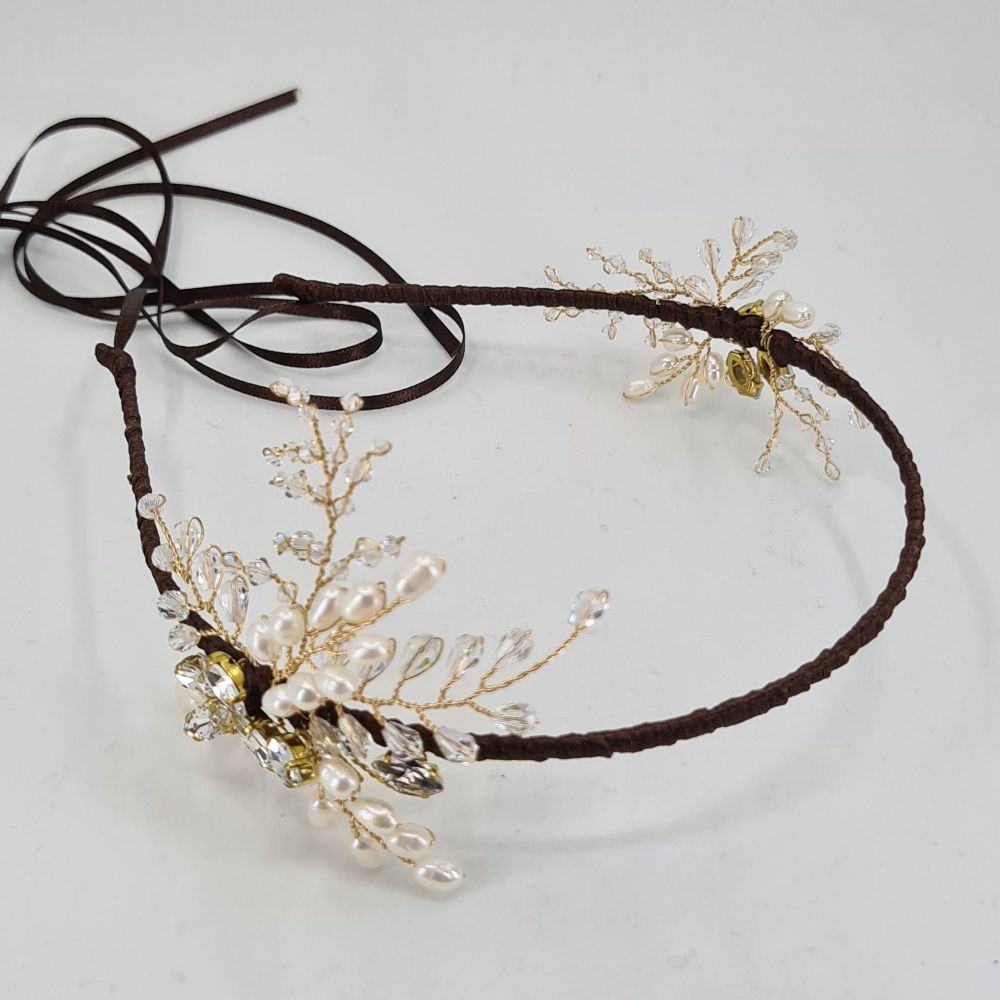 Double Sided Jewelled Fern Headdress