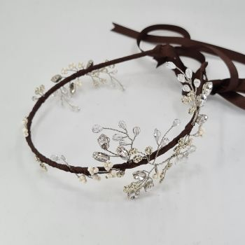 Antique silver vine headdress