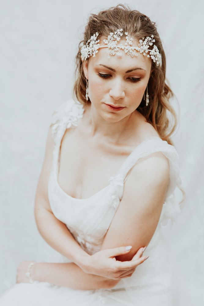 Mimosa Pearl headpiece Oxi Photography