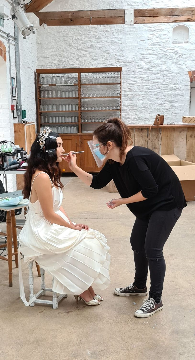 Clare Lloyd Accessories Brand Shoot behind the scenes with Brows and Brides