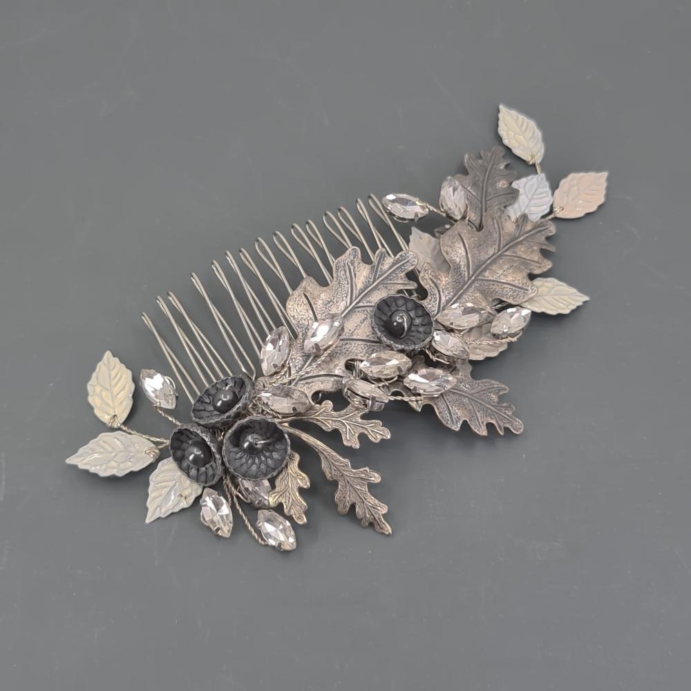 Oak Leaves Bridal Hair Comb