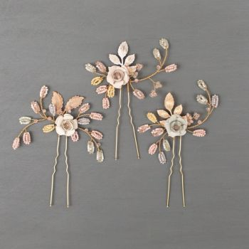 WILD EVE | Rose Wedding Hair Pins
