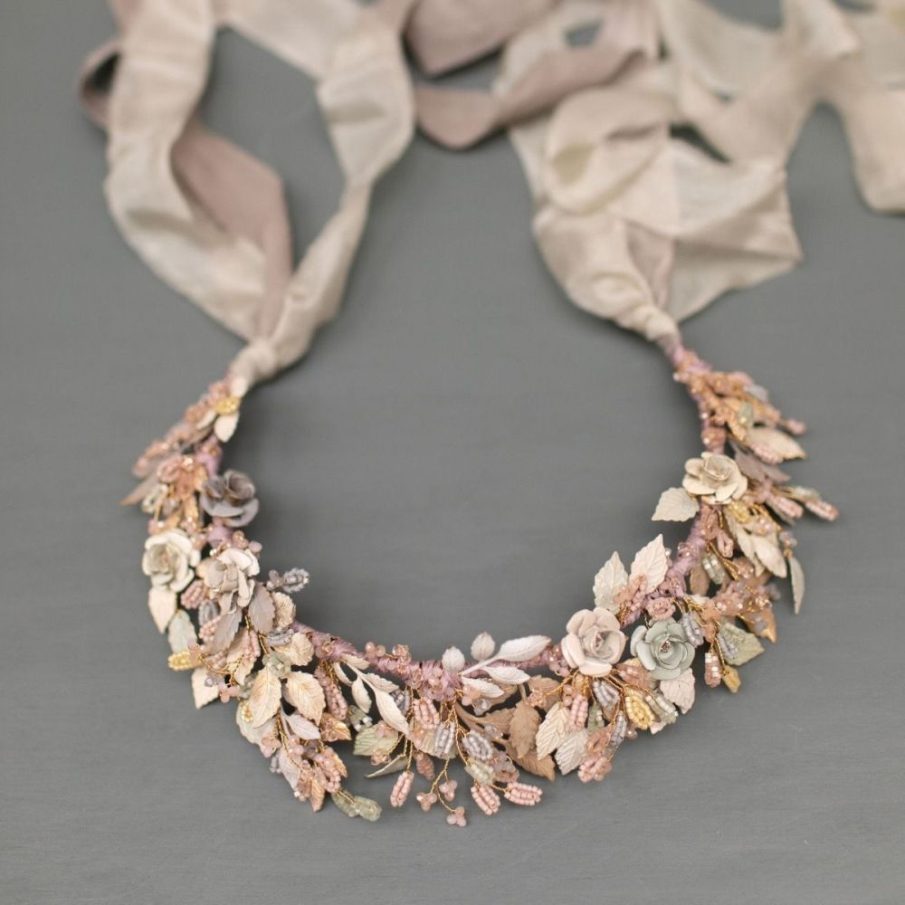 Wild Eve Rose Floral Bridal Crown