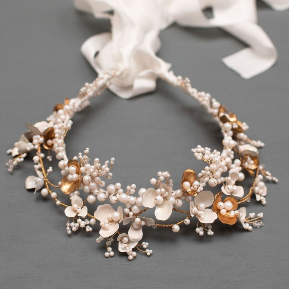 Anemone Statement Bridal Crown