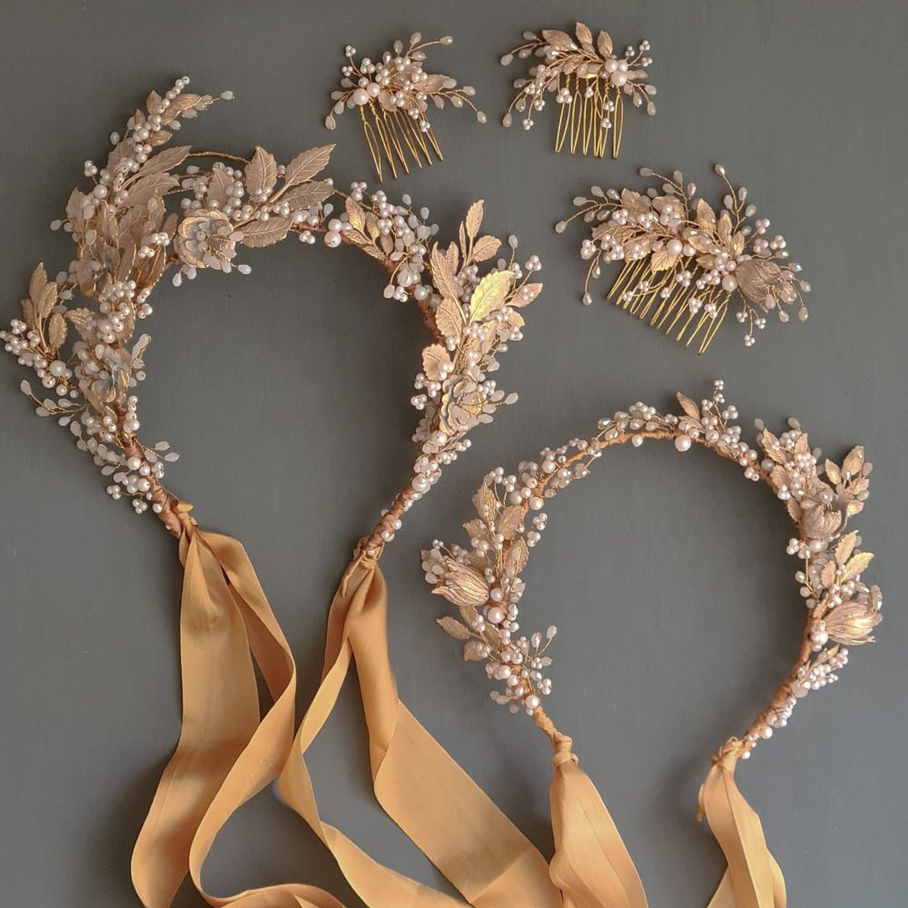Handmade and bespoke bridal hair accessories by Clare Lloyd