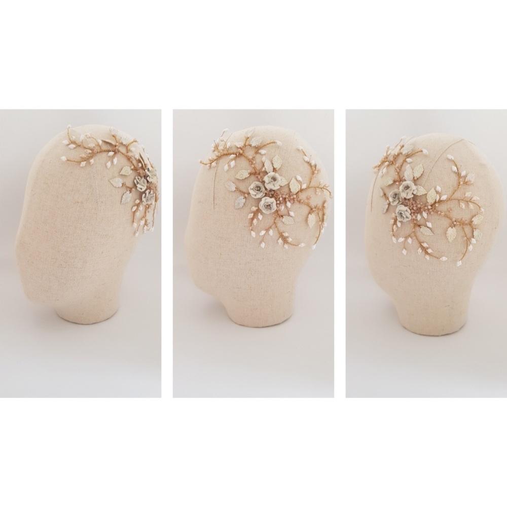 Io Floral Bridal Headpiece by Clare Lloyd Accessories