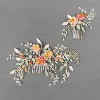 PEONY   Delicate Flower Bridal Hair Combs