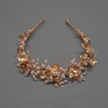 ANEMONE | Floral Pearl Bridal Headdress