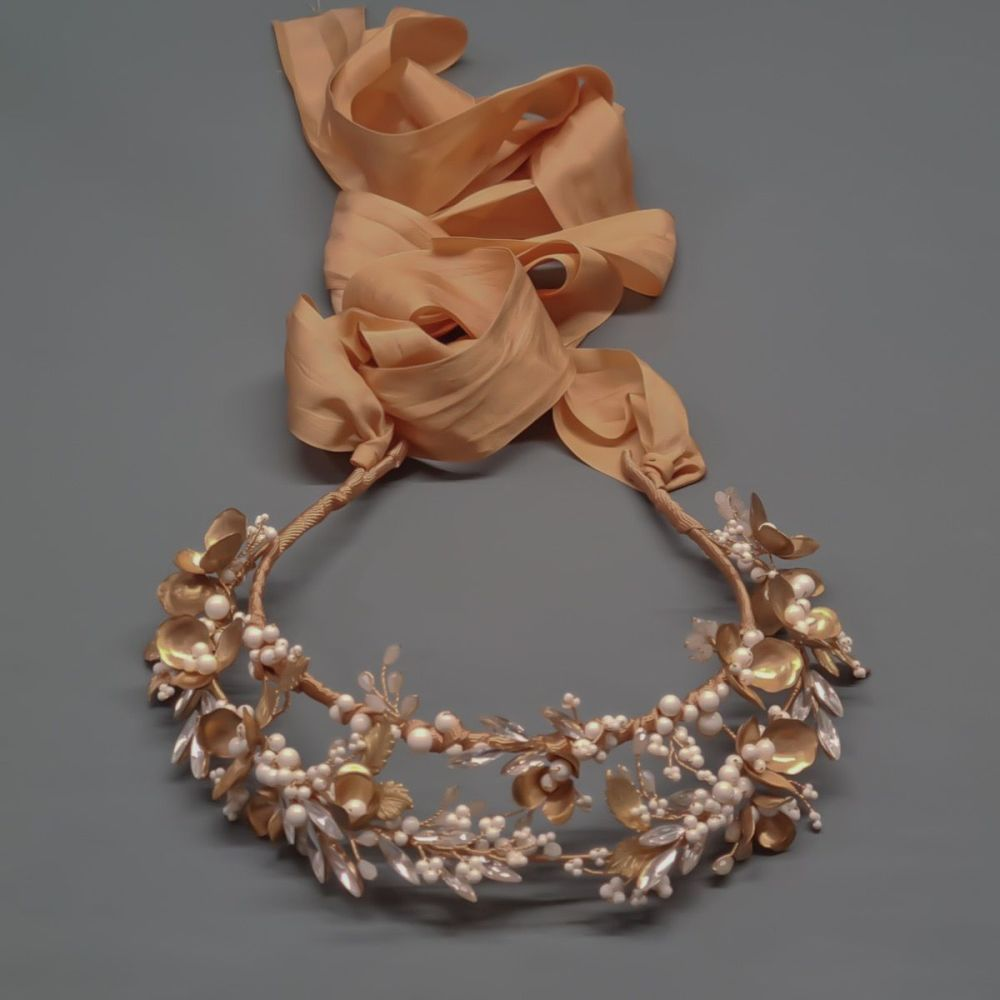 ANEMONE | Gold Flower Bridal Crown