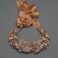 ANEMONE | Gold Flower and Crystal Halo Bridal Crown