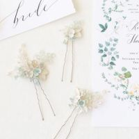 CELASTRINA | Palest Blue Floral Wedding Hair Pins