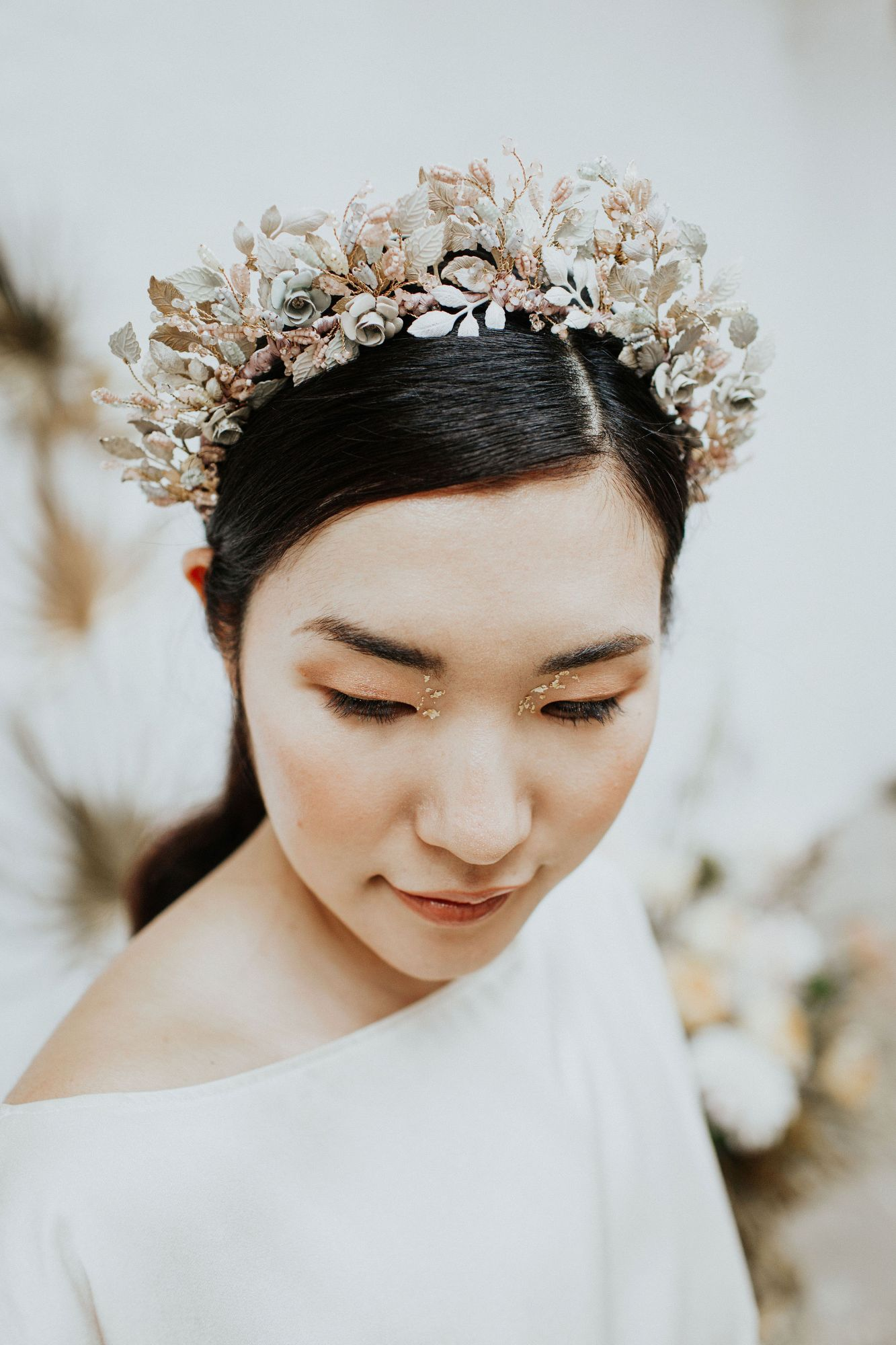 Wild Eve Pastel Rose Crown by Clare Lloyd Accessories