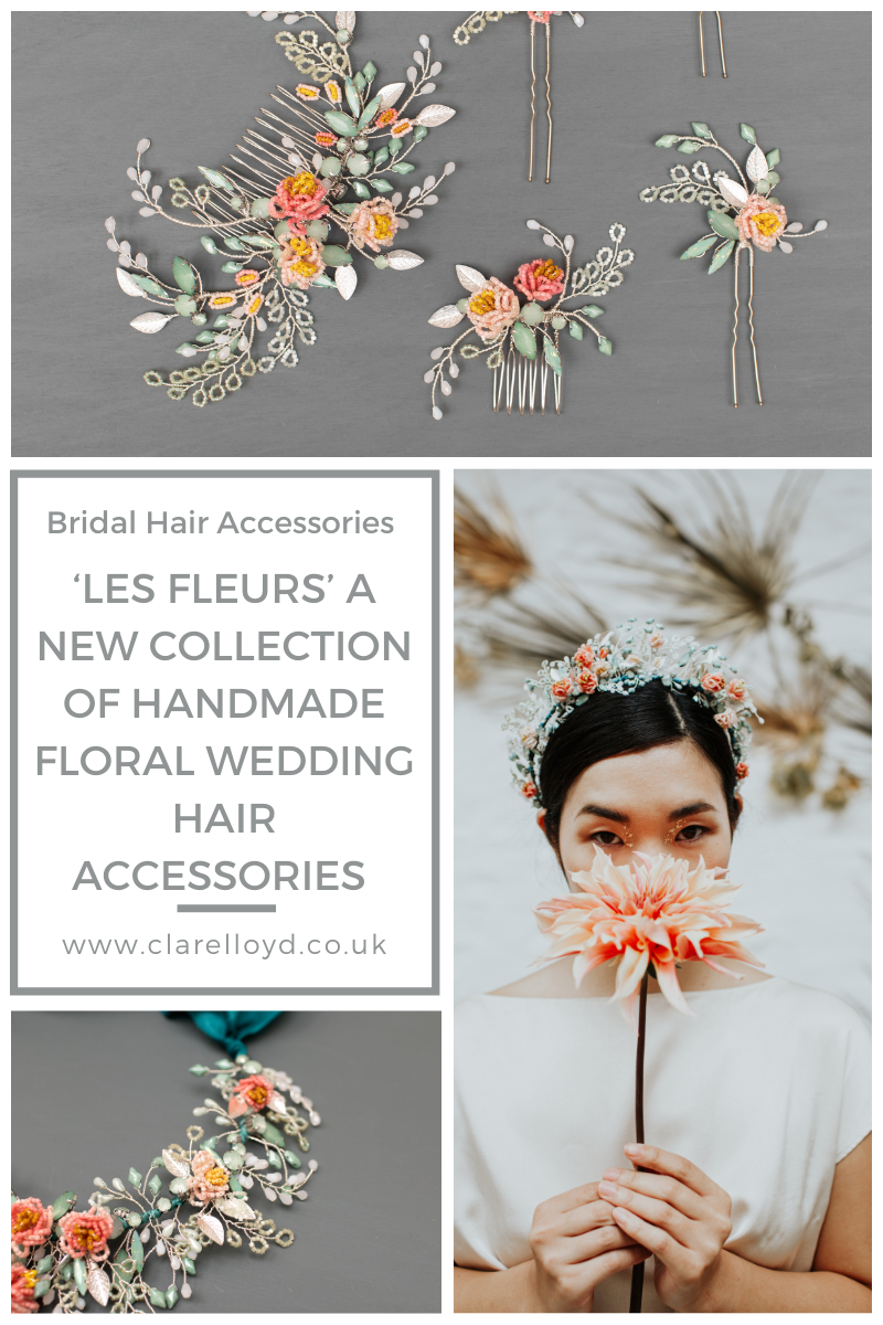 Les Fleurs a new collection of floral wedding hair accessories