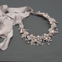 PEARLESCENT WHITE SNOWBERRY | Statement Pearl and Crystal Crown Headdress
