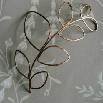 SYLVESTRIS | Delicate Outline Leaf wedding Headpiece
