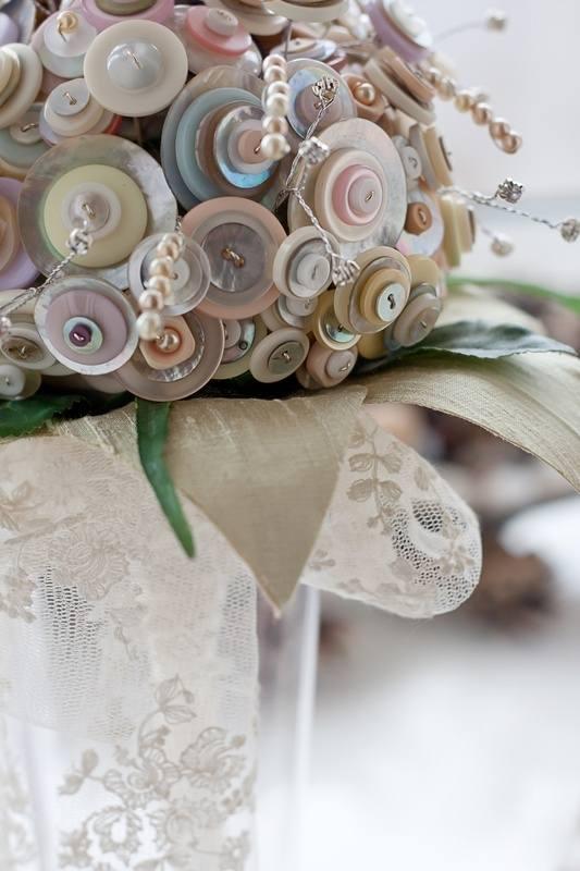 button bouquet close up