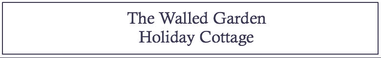 The Walled Garden Holiday Cottage, site logo.
