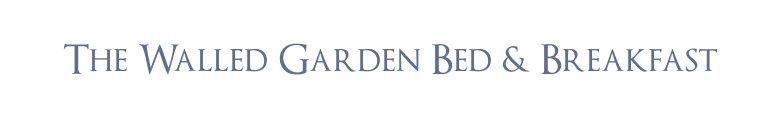 The Walled Garden Bed & Breakfast Rutland, site logo.