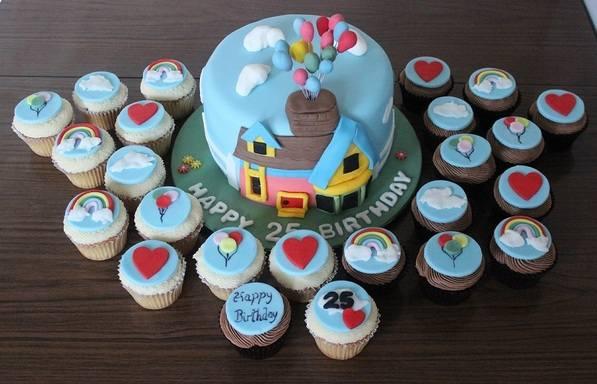 Up cake plus cupcakes