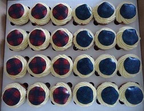 Tartan cupcakes