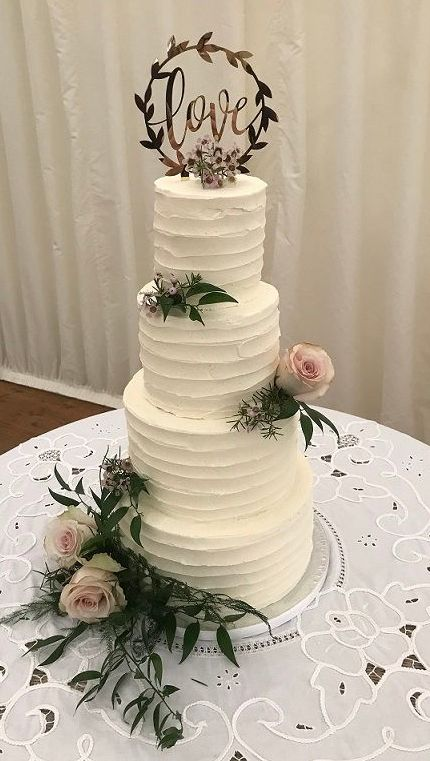 4 tier buttercream