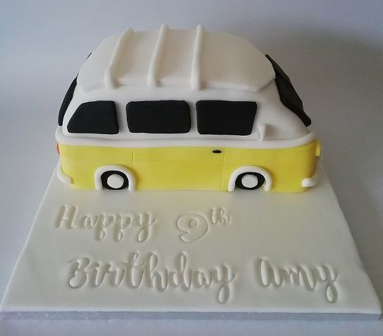 Yellow campervan