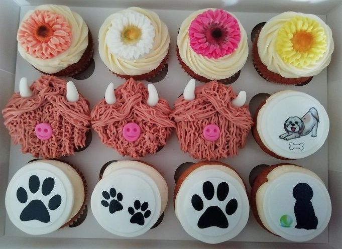 mixed themed cupcakes