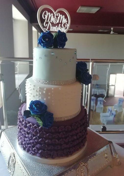 purple, white, blue