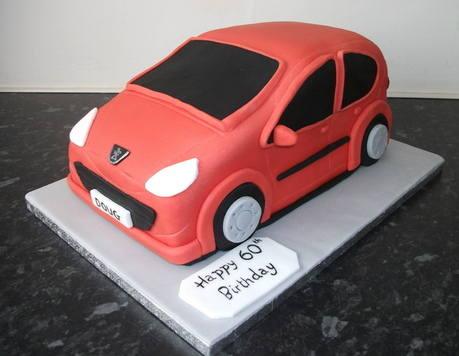 Peugeot 107 cake