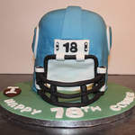 Front of football helmet