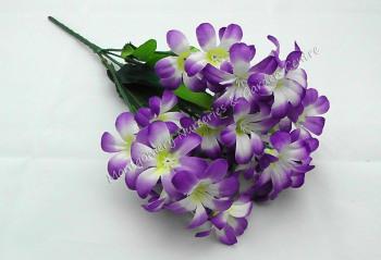 Lilac Bush 6 Heads Artificial Purple/Cream #1918