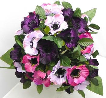 Anenome Bush 35 Heads Pink Lavender Purple #1077