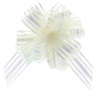 Organza PullBow 31mm Ivory #pb6201