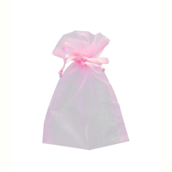 Baby Pink Organza Favour Bags Size:9x12cm 10 bags #bg2033