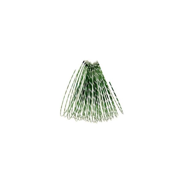 Dark Green Diamond Cut Aluminium Wire Diameter: 2mm  Length : 10 metres