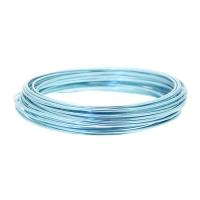 2mm Ice Blue Aluminium Wire 100g #wr4763