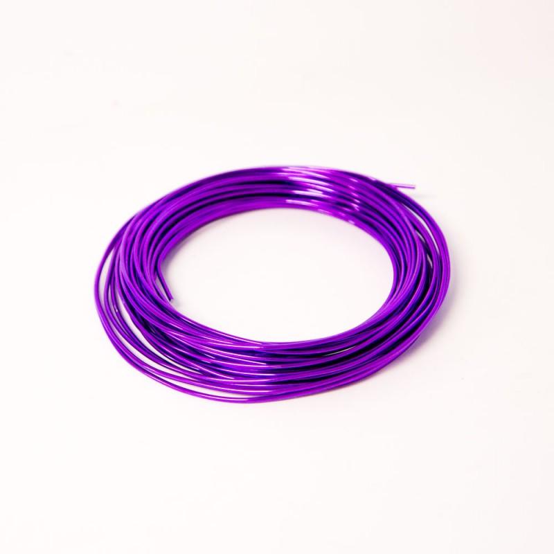 Aluminium Wire 2mm x 100g (approx 11.7m) Lilac/Purple #94623