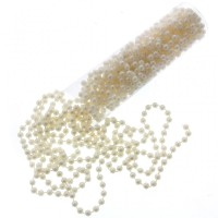 8mm Pearl Bead Chain - Ivory (10m) #CCA2143