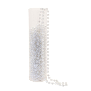 White Pearl Beads x 10mtrs 8mm #cca2145