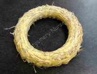 "1 x 12"" Straw Wreath Ring Plain NO Wreath Wrap Clear Gut"