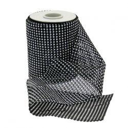 Black Diamante Ribbon 12.5cm x 5yrds  (4.5m)