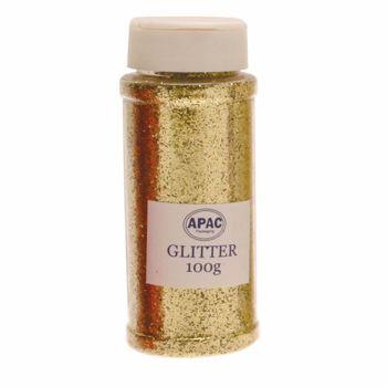 Floral Glitter 100g Gold