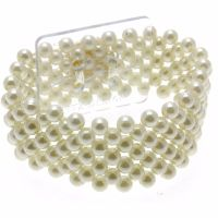 Corsage Narrow Pearl Bracelet - Cream #NC1211
