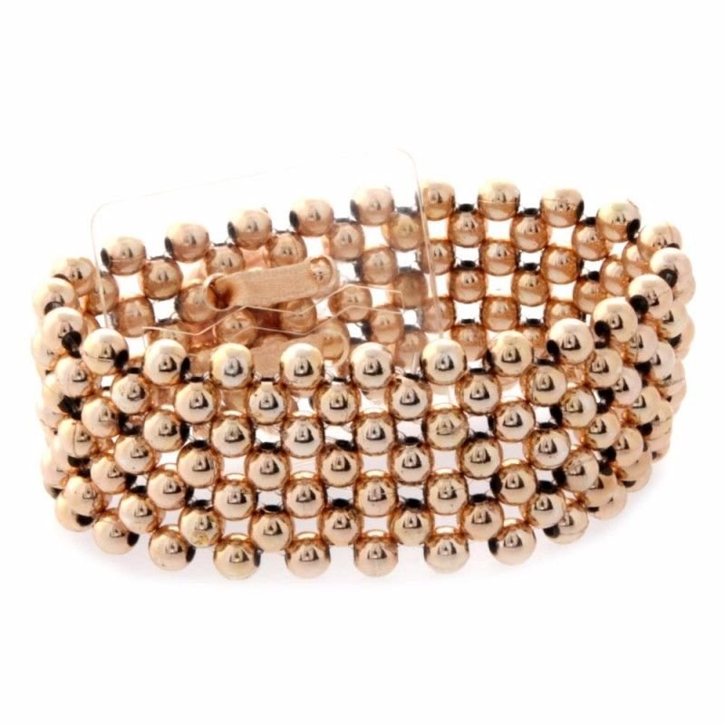 Corsage Narrow Pearl Bracelet - Rose Gold #NC1208R